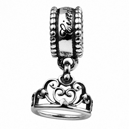 TAOTAOHAS antico sterling 925 argento charms ciondoli pendente beads perline [corona linder, ] bracciali europeo misura