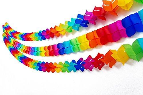 s Rainbow Kleeblatt Tissue Girlanden-5Pack (Jede Girlande 3Meter Lang) Perfekt für Bunte Thema Party Feiern von ()
