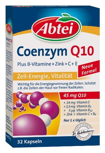 Abtei Coenzym Q 10 plus Zink, Vitamin B, C und E, 1er Pack (1 x 11 g)