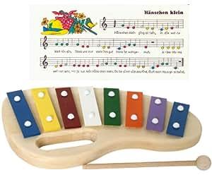 Goldon 11010 xylophone avec 8 lames en m tal et bois for Construction xylophone bois