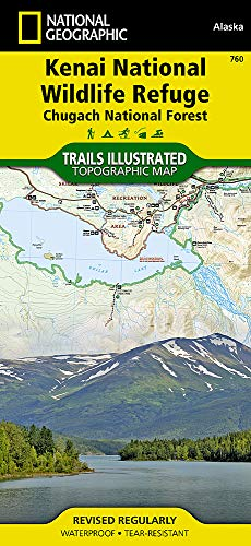 Kenai / Chugach National Forest: National Geographic Trails Illustrated Alaska (National Geographic Trails Illustrated Map, Band 760)