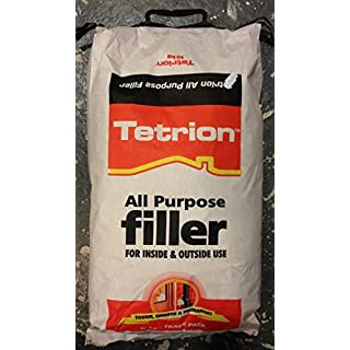 Tetrion All Purpose Filler Interior & Exterior Gap Crack Dent Fills Use In All Surface Surfaces Brick, Stone, Masonry, Plaster, Wood, MDF Small Bags Inside 10Kg
