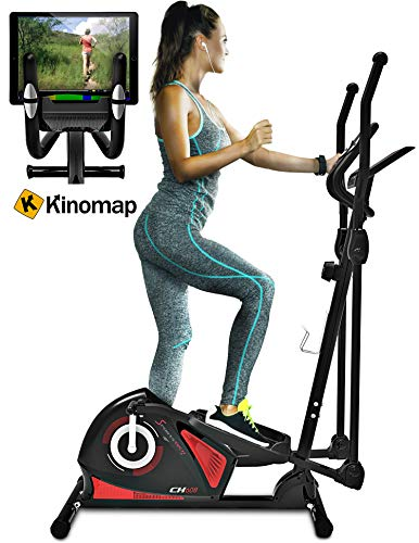 Sportstech-CX608-Elliptical-Cross-Trainer-with-Smartphone-App-Bluetooth-Interface-Exercise-Bike-Tablet-Holder-Pulse-Belt-Compatible-Ergometer-12-kg-Flywheel-3-Way-Crank-System-with-Kinomap