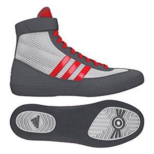 adidas Speed Combat 4 Kampfschuhe für Jugendliche Bahia Blau/Kalk 1,5, Herren, Weiß/Rot/Grau, 11.5 D(M) US