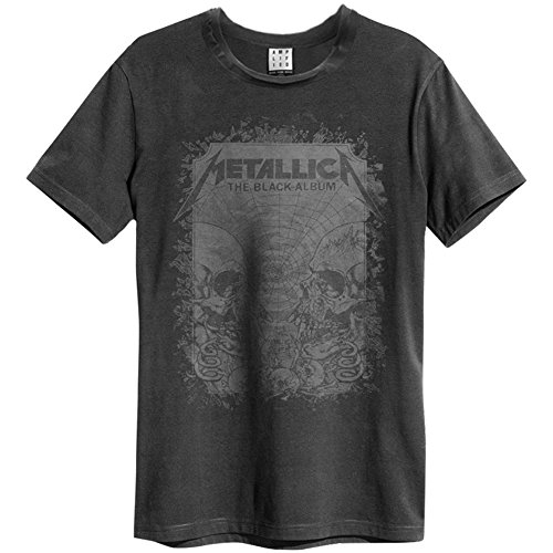 Amplified Herren Oberteile/T-Shirt Metallica The Black Album Schwarz