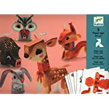 Djeco / Folded Paper Toy Kit, Pretty Woodland Animals (japan import)