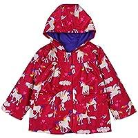 FAIRYRAIN Little Kids Girls Butterfly Ladybug Print Raincoat Padded Jacket Windproof Waterproof Sports Camping Sailing Outwear