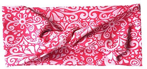 """Preisvergleich Produktbild WOLLHUHN ÖKO Süßes elastisches TWIST Haarband / Stirnband, gedreht, """"DREAMY"""" rosa / pink (aus Öko-Stoffen, bio) für Mädchen / Damen, 20170619"""