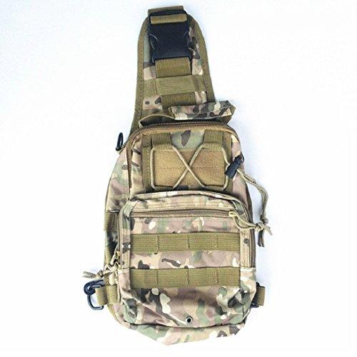 Marsupio Militare Armi tattiche Outdoor Sport Petto Borsa da escursionismo Army maschio Marsupio impermeabile, ACU Digital CP camo