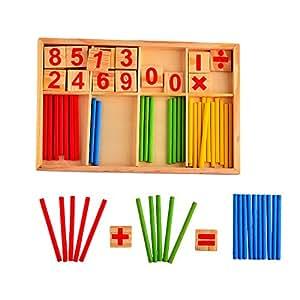 Hipsteen Intelligenza Matematica di Legno Bastone Numero Carte Contando Barre Montessori Bambino Asilo Presto Giocattoli Educativi Prodotti Set