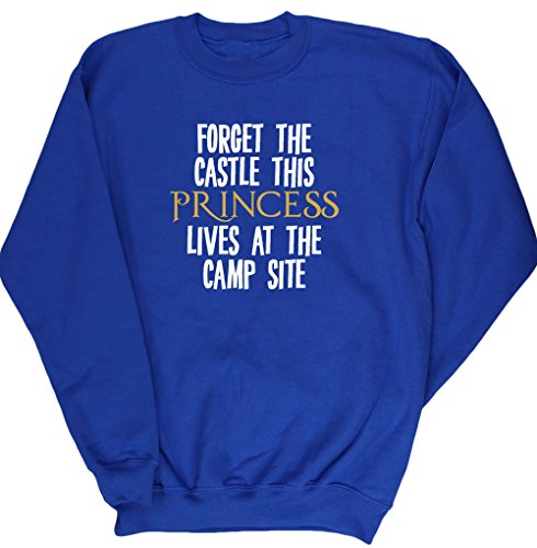 51px4W3HESL BEST BUY UK #1HippoWarehouse Forget the castle this princess lives at the camp site kids unisex jumper sweatshirt pullover price Reviews uk