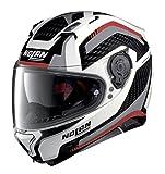 Nolan N87 Arkad N-Com Helm L (61) Weiß/Grau/Rot