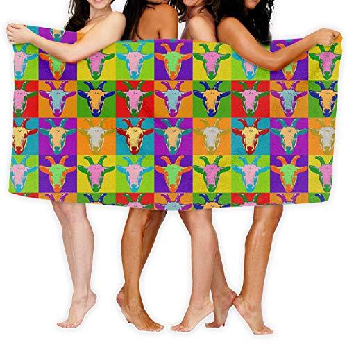 bb6200da5b1378 Ksiy Nana Home coloré Tête de chèvre pour homme femme élégante Chaussettes  longues Athletic Chaussettes de sport. Extra Large Soft Serviettes de ...