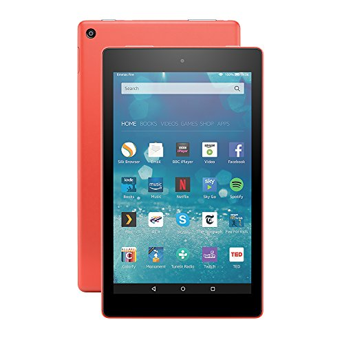 "Price comparison product image Fire HD 8 Tablet, 8"" HD Display, Wi-Fi, 16 GB (Tangerine) - Includes Special Offers"