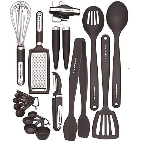 KitchenAid Küche Werkzeug & Gadget Set, schwarz (17-teilig) Kitchenaid Gadget