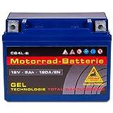 Panther GEL YB4L-B - 12 V / 5 Ah - 120 A/EN 50511 CB4L-B Motorradbatterie