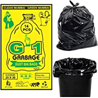 G 1® Large Garbage Bags of 25 X 30 Inches | 42 Bags - Pack of 3 * 14 Bags |Disposable Dustbin Bags for Home Kitchen…
