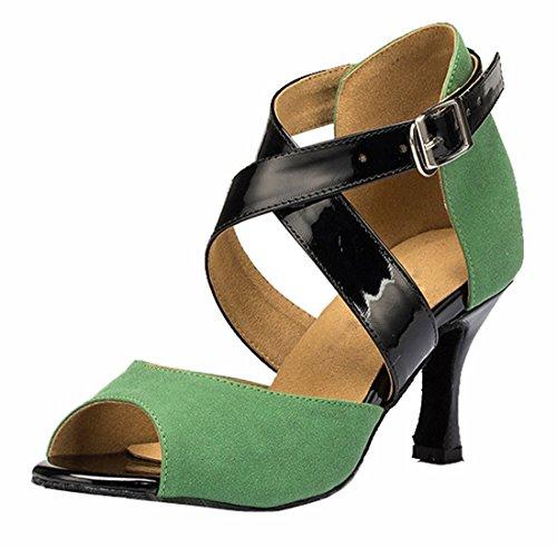TDA - Peep-Toe donna , verde (7.5cm Heel Green), 39