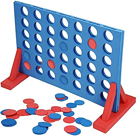 Hillington ® Giant EVA 4 In A Row Connect 4 Garden Outdoor Game - Ideal For Family And Nursery / School