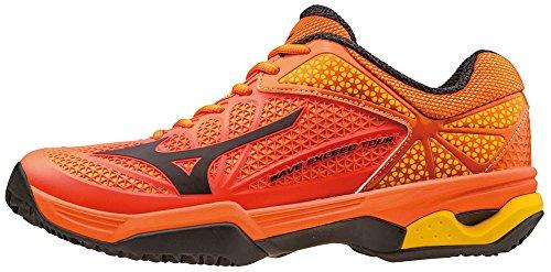 Mizuno Wave Exceed Tour CC, Chaussures de Tennis Homme Orange - Arancione (Vibrantorange/Black/Spectrayellow)