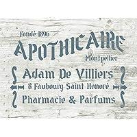 Schablone für  Möbel und Stoff Deko französische Salz Sack SEL de MER Paris