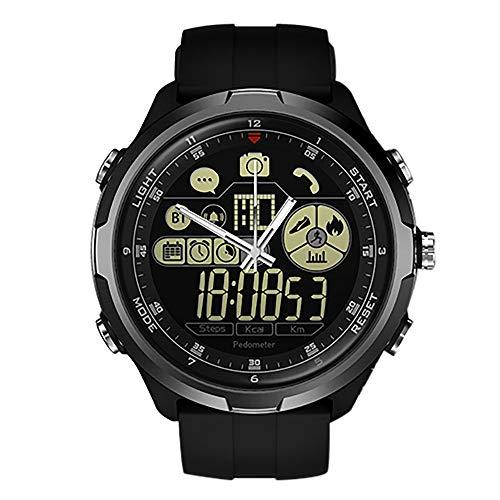TianranRT Zeblaze VIBE 4 HYBRID Smart Watch Telefon Sport Männer Smartwatch iOS/Android Q5Y8 (Schwarz) -