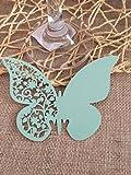 ColorMax–50 tarjetas de mariposa para mesa de bodas, para copa de vino, decoración de fiestas