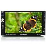 'XOMAX xm-2vrsu716bt Autoradio Moniceiver mit Display Touch Screen 18cm/7+ Freisprecheinrichtung und Musikwiedergabe via Bluetooth mit A2DP + USB Anschluss (bis 32GB.) & Slot SD Card (bis 32GB.) Für Dateien Audio und Video: MP3, WMA, MPEG4, AVI, DIVX etc. + ID3TAG Anzeige + RDS Radio Tuner + AUX-Buchse Eingang + Subwoofer und Rückfahrkamera von Fahren + Abmessungen Standard Doppel