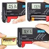 hapurs universal digital Batería Tester Volt Checker para AA AAA C D 9V 1.5V Pilas de botón de BT-168D