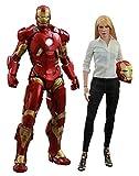Hot Toys Movie Masterpiece - Iron Man 3: Pepper Potts & Mark IX Figurine