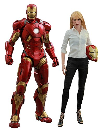 Hot Toys 1: 6 Maßstab Mark IX Armor IRON MAN 3 Pepper Potts Figur (weiß/rot)