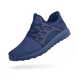 ZOCAVIA Herren Sportschuhe Laufschuhe Sneaker Atmungsaktiv Leichte Wanderschuhe Blau 46