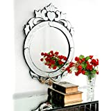 Venetian Design Wall Mirror VDS-05 Size 29x20 Inches Silver Colour