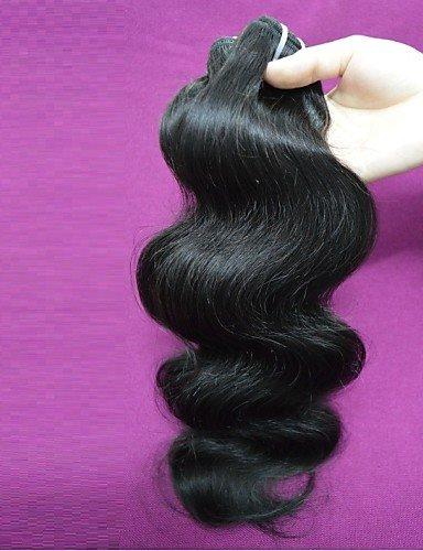 JFF/ Großhandel 1 kg 20balls lot brasilianische remy Körperwellen-Menschenhaar brasilianisches reines Haar orginal menschliches Haar Weben , 22 inch & 24 inch-natural color