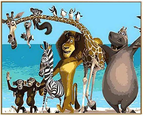 WACYDSD Puzzle Adulte 1000 Pièces Puzzle 3D Animal Cartoon Cartoon Cartoon DIY Pictures Main Décor À La Maison 783712