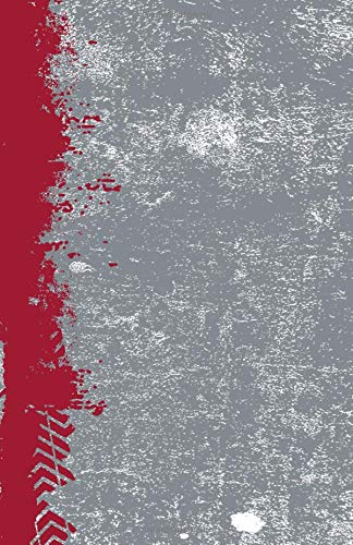Crimson And Gray: (5.5 x 8.5 Lined) Blank Grunge School Color Notebook College Ruled por Belle Journals