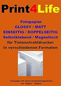 100 feuilles A4 papier photo mat 130g /m² papier couché double face. Jet d'encre couché mat papier photo haut de gamme pour les impressions recto-verso de haute qualité.