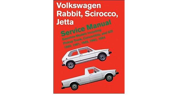 Other Car Manuals SHOP MANUAL SERVICE REPAIR RABBIT SCIROCCO ...