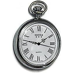 Bernex Rhodium Plated Gents Pocket Watch GB21201