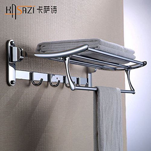 QUEEN'S Bathroom racks stainless steel bathroom double folding multi-purpose Towel rack