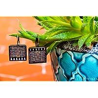Orecchini Mosaico Alhambra - Orecchini Fotografia e Resina ecologico - Mosaico bande intrecciate - Gioielli fotografici - regalo donna -18 mm