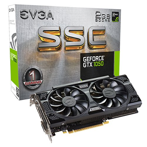 Evga GeForce GTX 1050 Gaming, supporto scheda grafica, 2 GB GDDR5, DX12 OSD (02G P4 6150 KR)