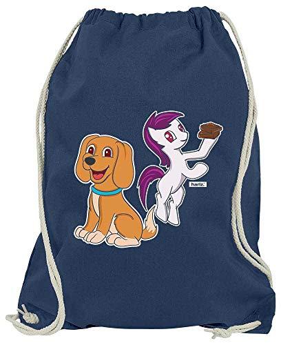 HARIZ Turnbeutel Hund Pony Süß Tiere Dschungel Plus Geschenkkarten Navy Blau One - Dschungel Tier Themen Kostüm