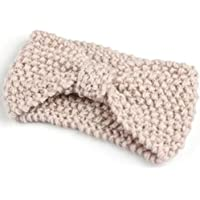 Fascia per capelli all'uncinetto lavorata a maglia con fiocco all'uncinetto Fashion Girl