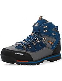 Weweya Hombres Botas de Senderismo Zapatos de Trekking resbaladizo Caminar  Transpirable Zapatilla de Escalada 12b81cf07e61b