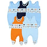 Babystrampler Jungen Strampler Baby Strampelanzug Mädchen 100% Baumwolle im 5er Pack