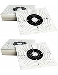 Pack de 200 dianas de carton de tiro al blanco Gamo tamaño 14x14 cm