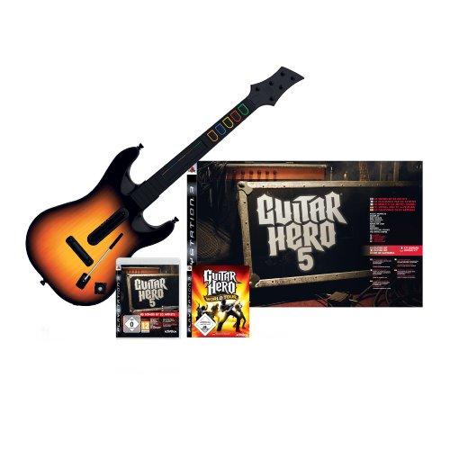 Guitar Hero 5 - Limited Edition inkl. Gitarre + World Tour Guitar Hero Gitarre Ps3-bundle