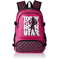 Barbie Nylon 48 cms Black and Pink Children's Backpack (Age group :8 yrs +)