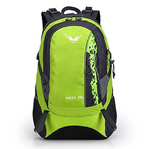 LJ&L Männer und Frauen allgemeine Mode Sport Bergsteigen Tasche, wasserdichte Nylon Reise Rucksack, praktische Verschleiß-resistenten Mehrzweck-Camping Schultertasche C